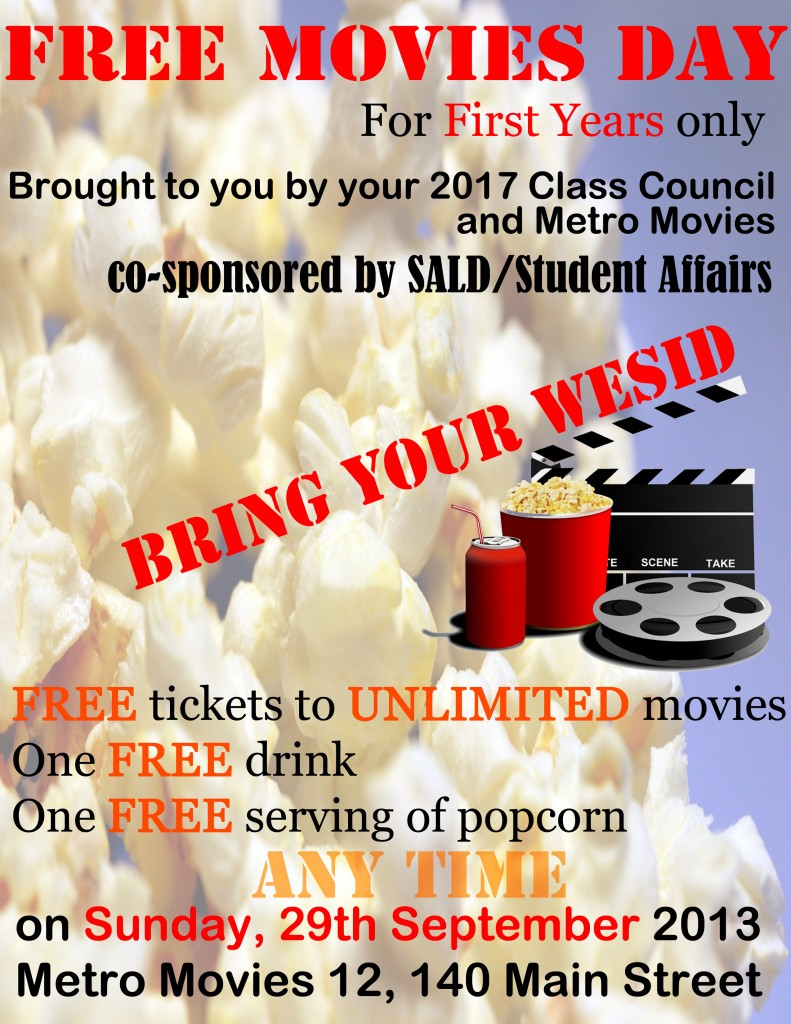 Class Council - 09.25.13 Free Movie Day Flyer edited jpg