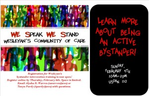 we speak we stand flyer_spring 2014